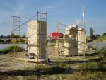 Construcción de la Isla de las Esculturas