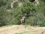 lugareño montando a caballo